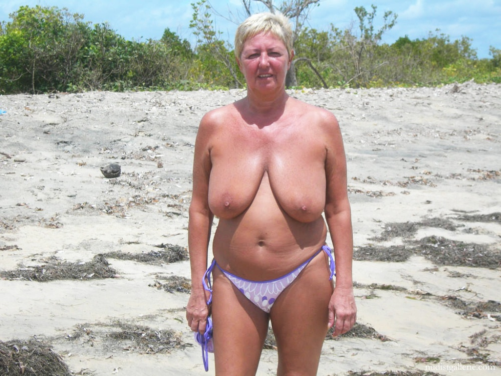 Big tit mature nude beach