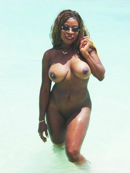 Beach Black women nudist