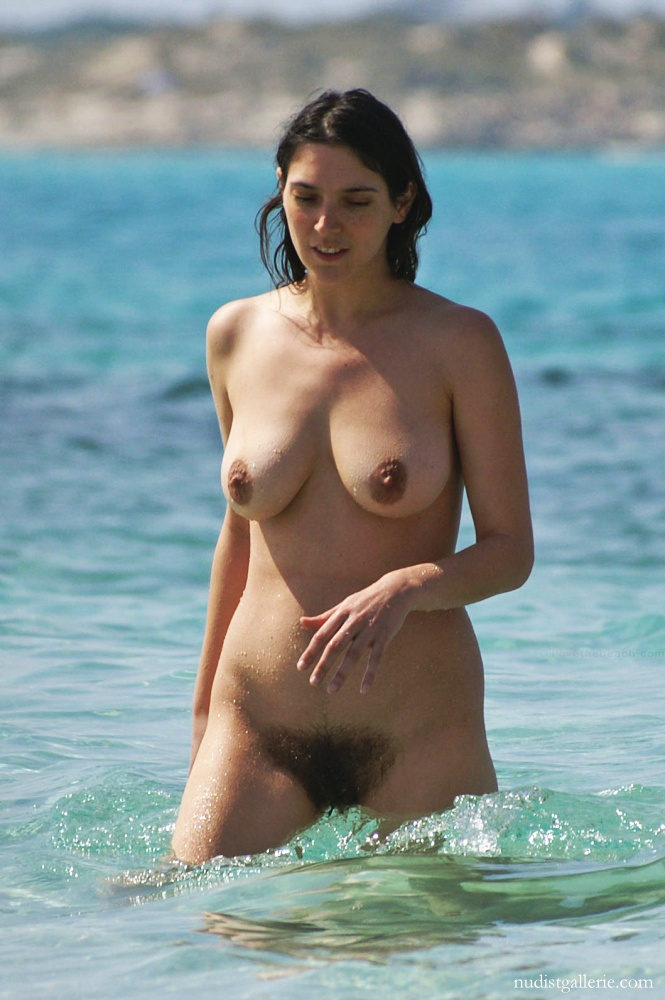 Wife at beach naked