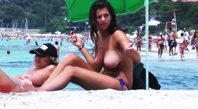 busty topless beach tits   nudism photo and video gallery