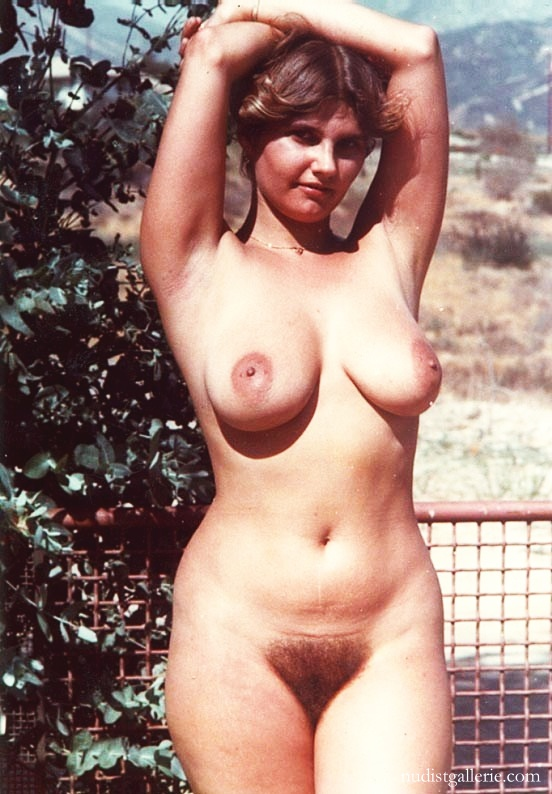Retro hairy nudists