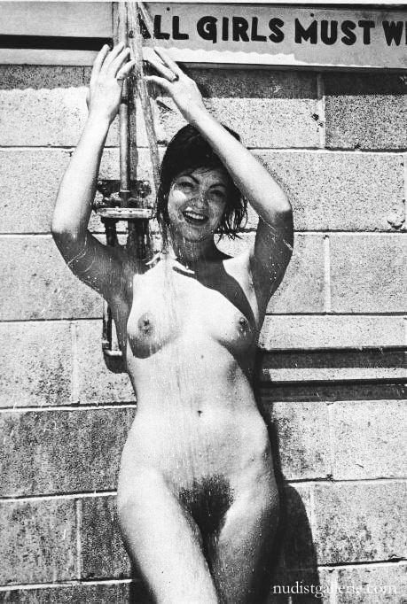 Classic hairy nudist