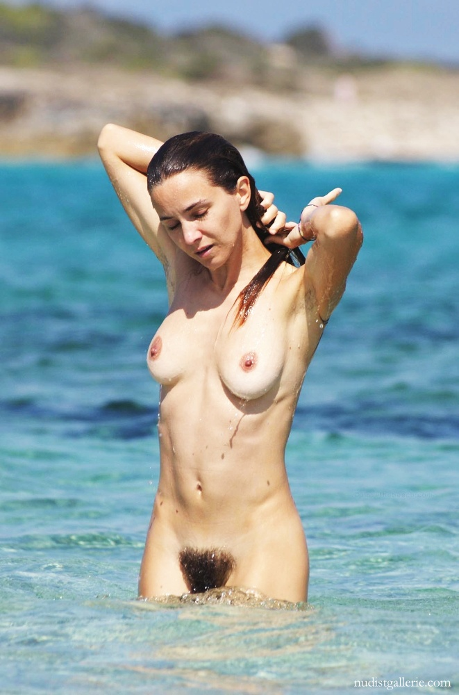 Hairy women naked on the beach
