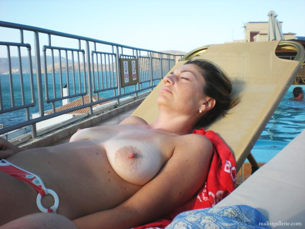 the on Mature beach topless women